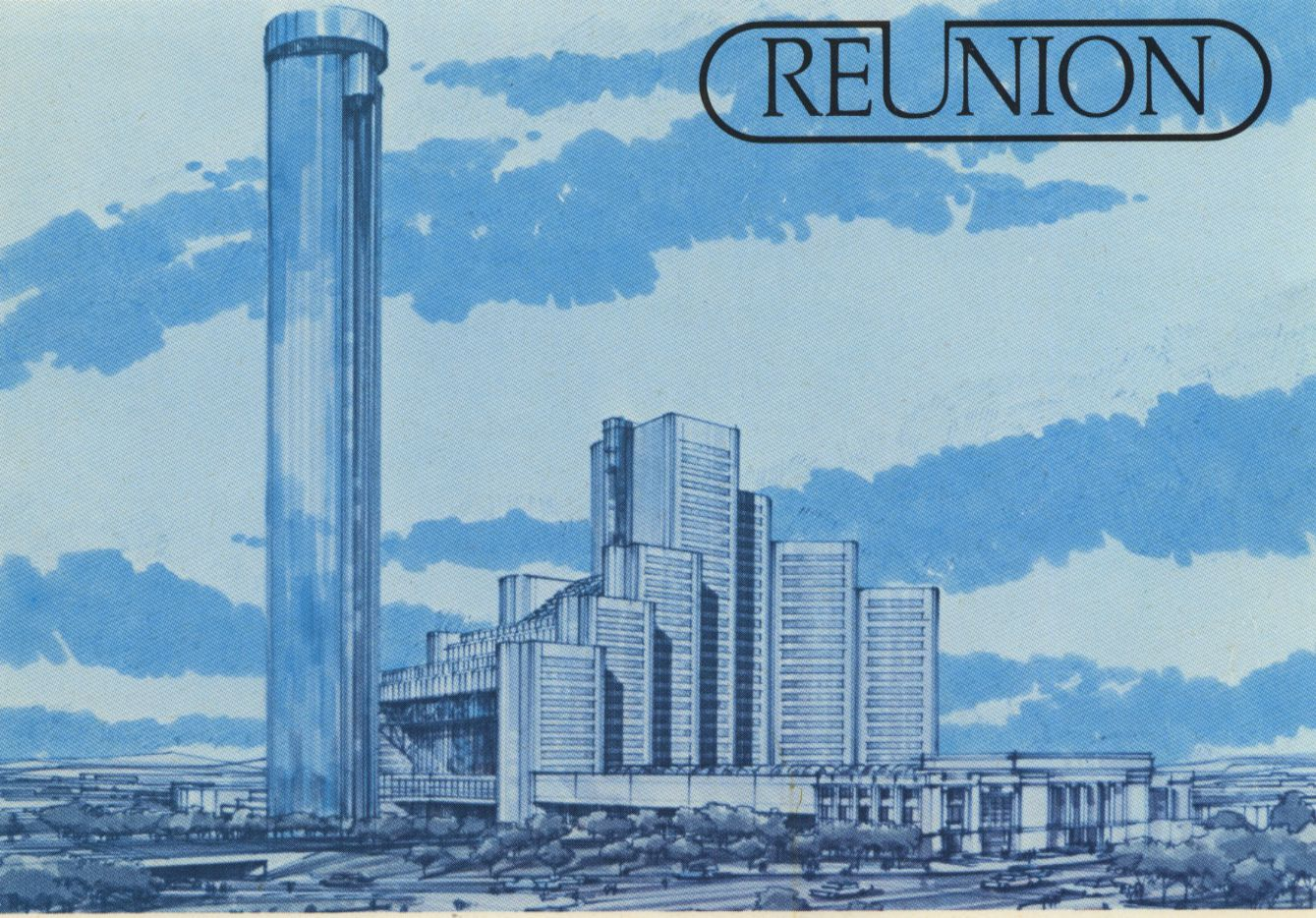 Early designs for downtown's Reunion project includes a big round tower.