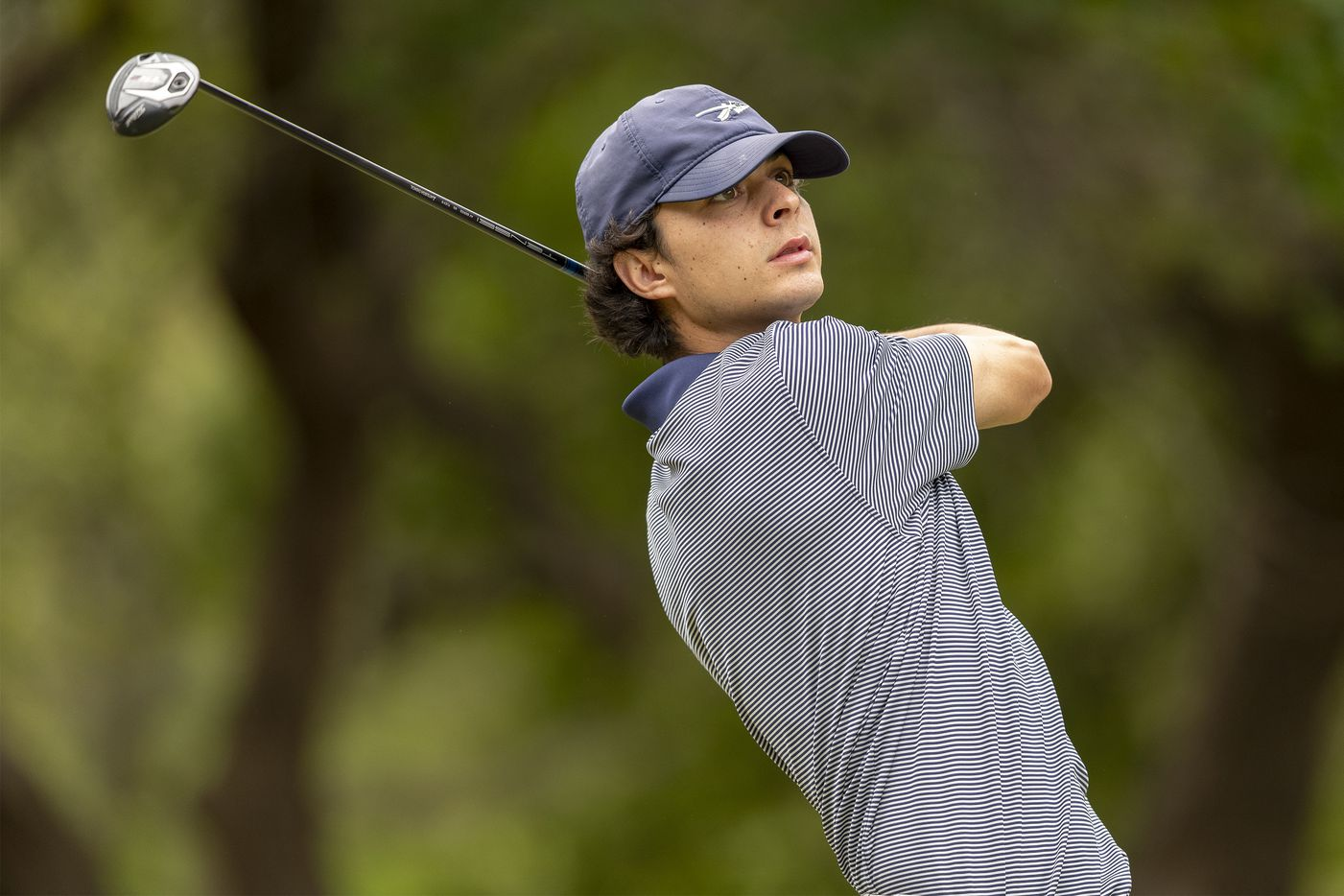 KellerÕs Jackson Naeger hits from the 1st tee box during the final round of the UIL Class 6A boys golf tournament in Georgetown, Tuesday, May 18, 2021. (Stephen Spillman/Special Contributor)