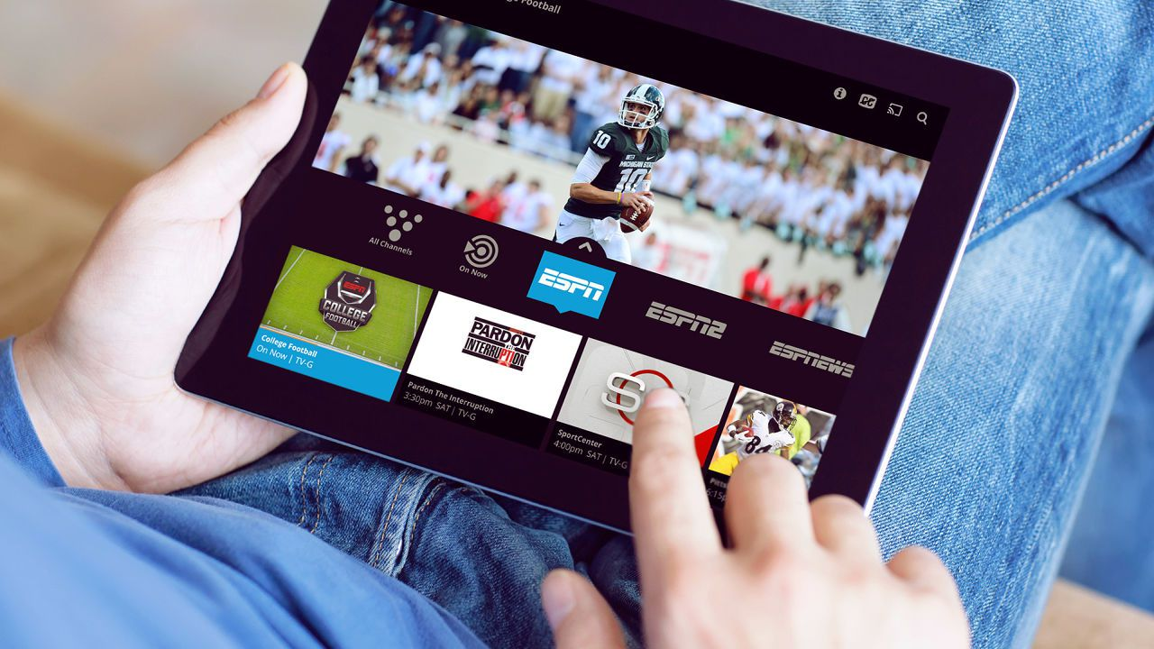 Sling TV on a tablet