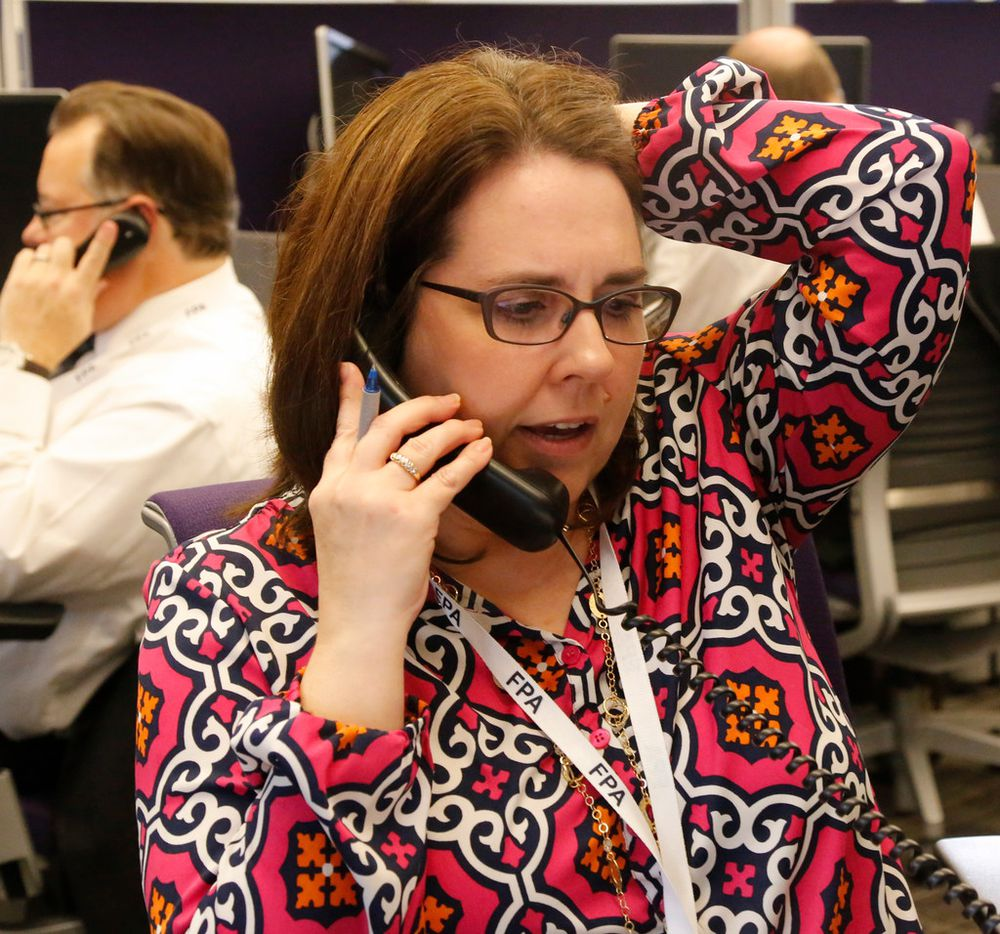 Melissa Brennan with Vogel Financial Advisors was among the certified financial planners at The Dallas Morning News' annual financial call-in, Thursday October 5, 2017 .The call-in was held at NBC DFW Channel 5 offices in Fort Worth, Texas. (Ron Baselice/ The Dallas Morning News )