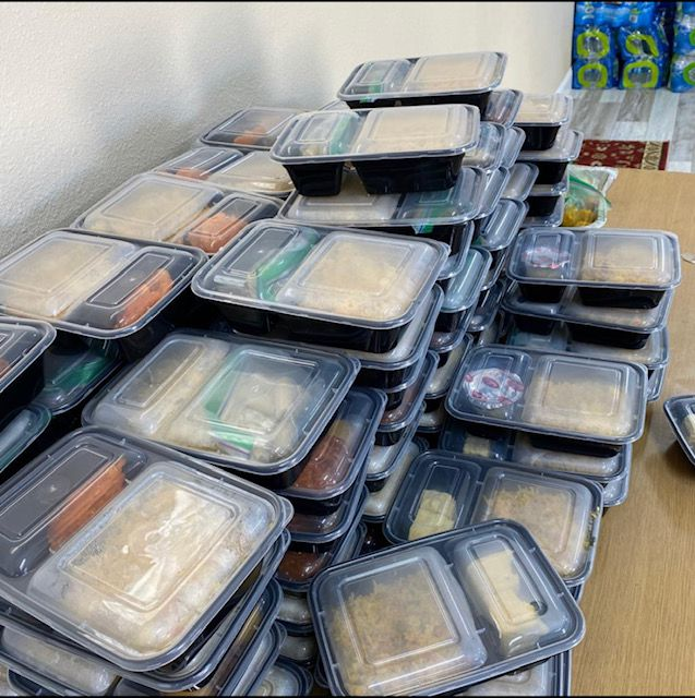 Eknoor Gurdwara packs food to send to a local shelter each Saturday afternoon.