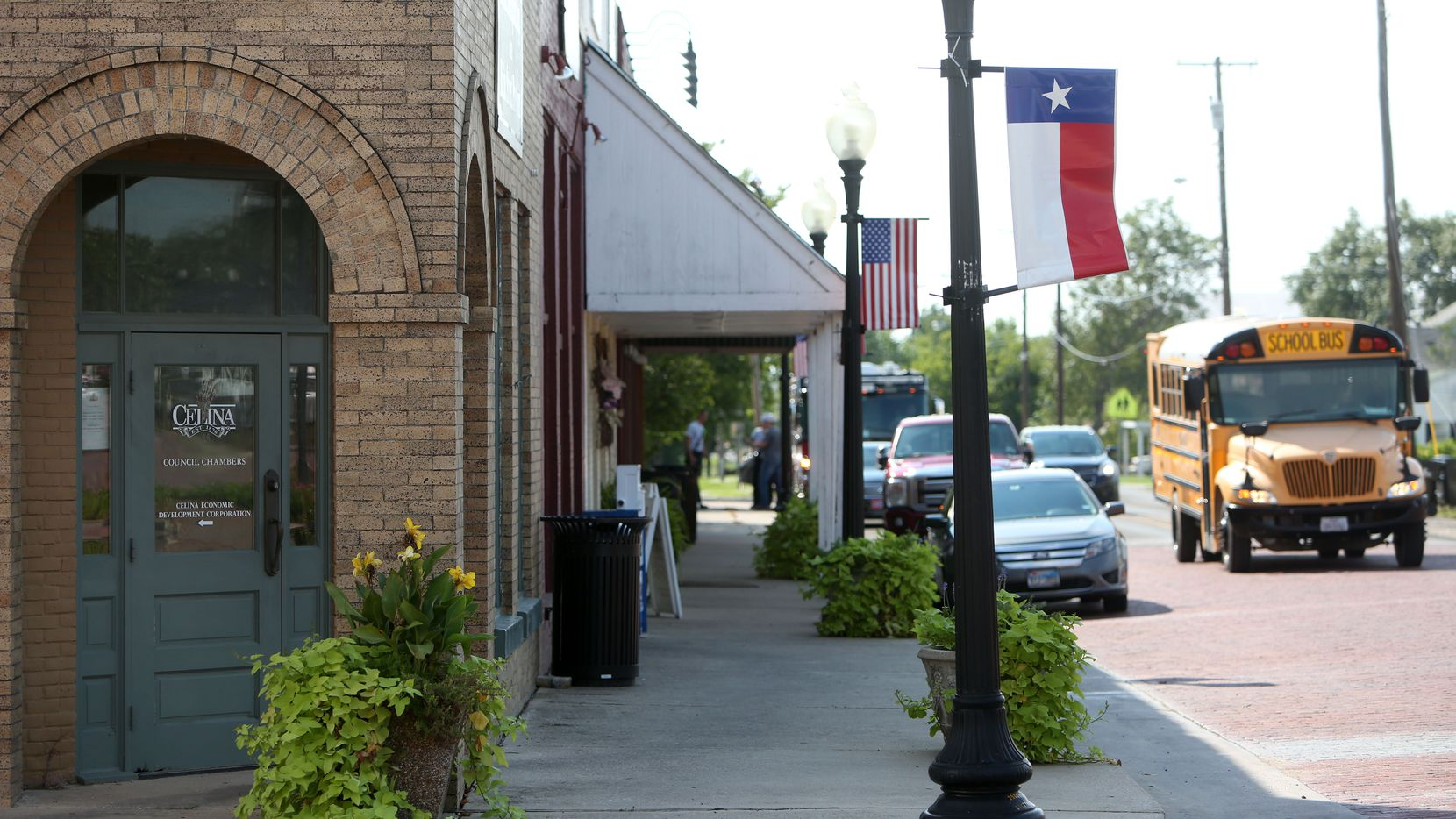 Many of the buildings surrounding Celina's century-old town square are being repurposed for shops and civic facilities.