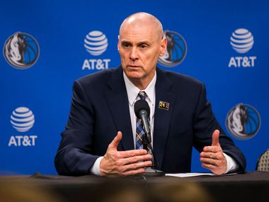Dallas Mavericks head coach Rick Carlisle speaks to reporters after the Dallas Mavericks beat the Denver Nuggets 113-97 on Wednesday, March 11, 2020 at American Airlines Center in Dallas. During the game, the NBA suspended all games due to the spread of the coronavirus.