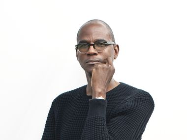 Mark Bradford photographed on March 4, 2020 at The Modern Art Museum of Fort Worth.