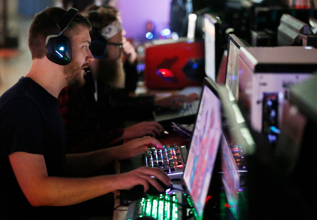Tristen Brown of Lewisville plays Overwatch during QuakeCon.
