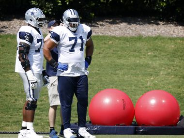 Dallas Cowboys tackle La'el Collins (71) was back on the practice field preparing for the season opener at The Star in Frisco, Texas, Monday, September 6, 2021.
