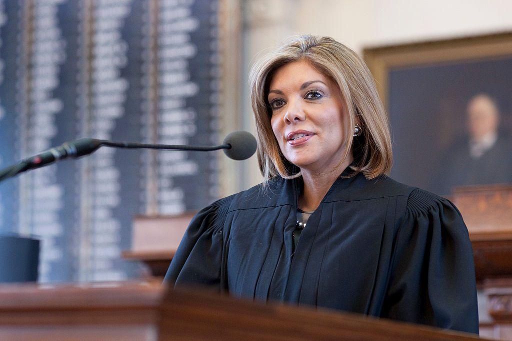 Eva Guzmán was sworn in to the Texas Supreme Court in 2010.