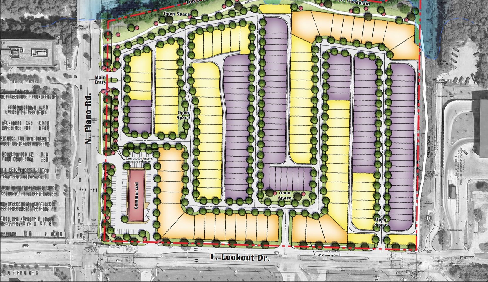 Arcadia Realty wants to build an almost 200-home community on the Plano Road property.