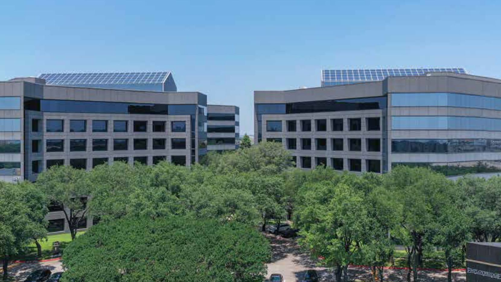 The Park West buildings are on LBJ Freeway northwest of Dallas.