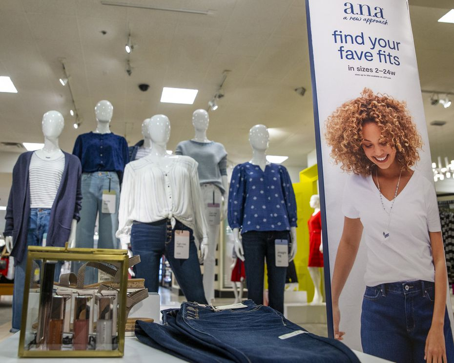 J.C. Penney's a.n.a. display at its store in Stonebriar Centre in Frisco. The relaunch of the brand this week is intented to make Penney a women's denim desination.