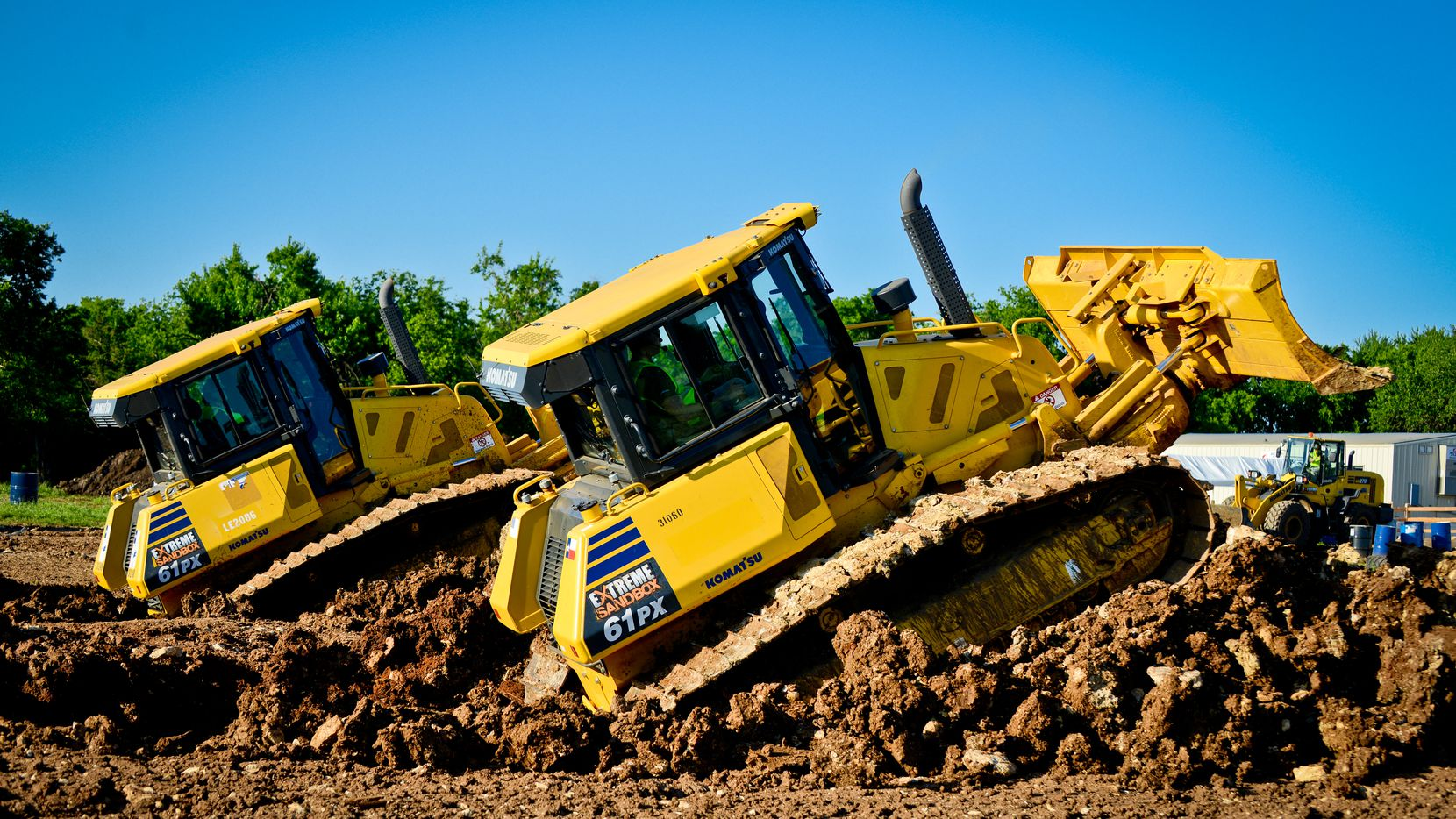 At Extreme Sandbox, you can social distance while driving a 10-ton bulldozer.