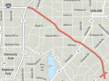 An $1.7 billion TxDOT construction project is outlined from just east of U.S. Highway 75 in North Dallas to Interstate 30 in Mesquite.