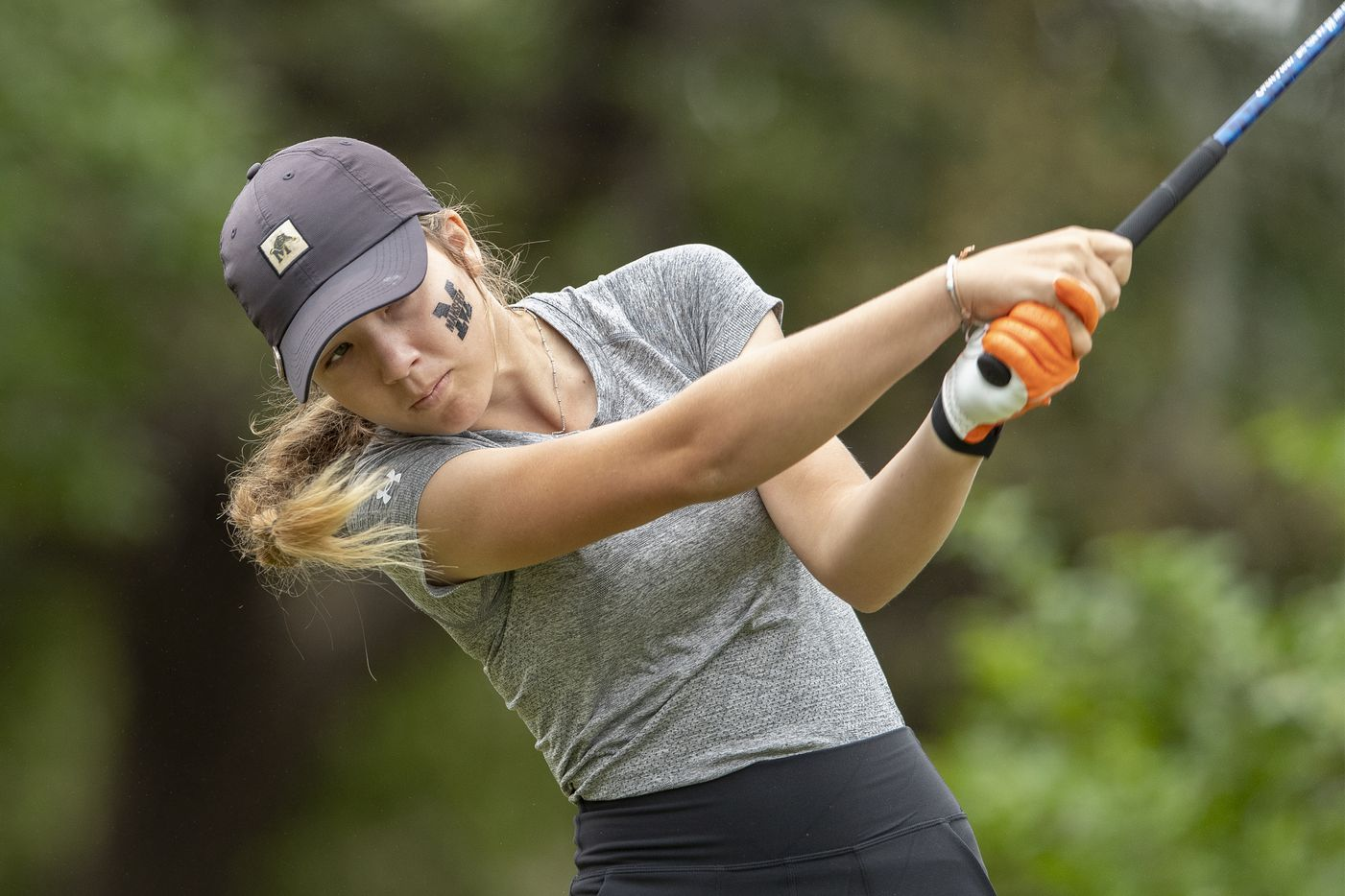 Mansfield's Abby Hirtzel hits from the 1st tee box during the final day of the UIL Class 5A girls golf tournament in Georgetown, Tuesday, May 11, 2021. (Stephen Spillman/Special Contributor)