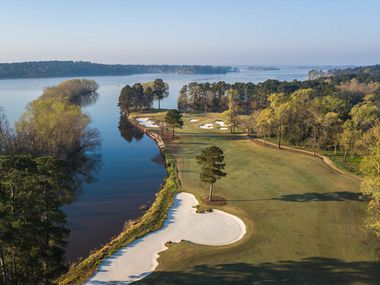 No. 17 at Whispering Pines Golf Club in Trinity, Texas, is a 603-yard par-5 hole from the Spirit tees.