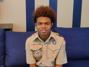 Noah Bordeaux is a Boy Scout seeking Eagle Scout status and created a project to give a token of appreciation to the DeSoto Police Department.