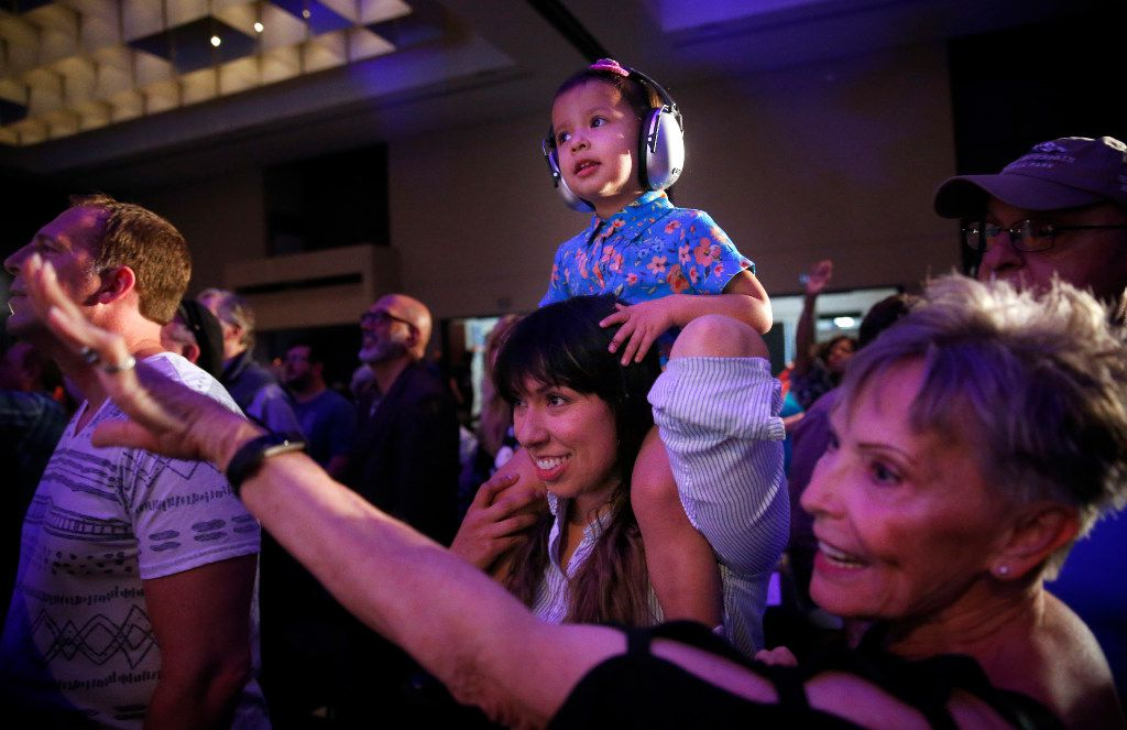 The audience danced to The Polyphonic Spree on Saturday at the Kay Bailey Hutchison Convention Center. (Tom Fox/Staff Photographer)