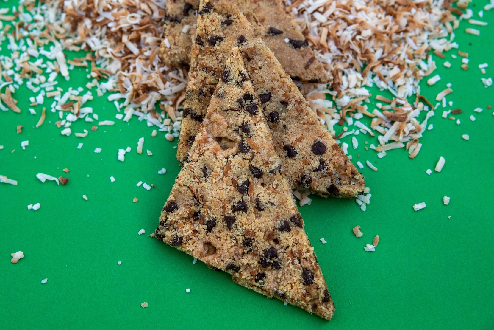 Coconut Chocolate Chip Cookie Brittle