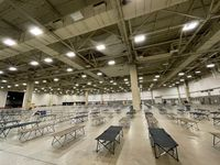 The Kay Bailey Hutchison Convention Center in Dallas was opened up as a warming shelter during last month's bitterly cold winter storms.
