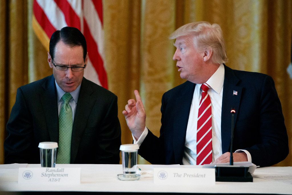 """AT&T CEO Randall Stephenson attended an """"American Leadership in Emerging Technology"""" event hosted by President Donald Trump at the White House in June."""