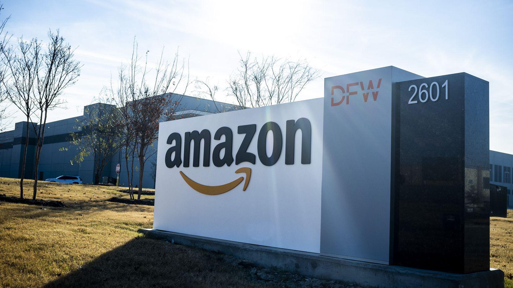 An Amazon fulfillment center near DFW International Airport.