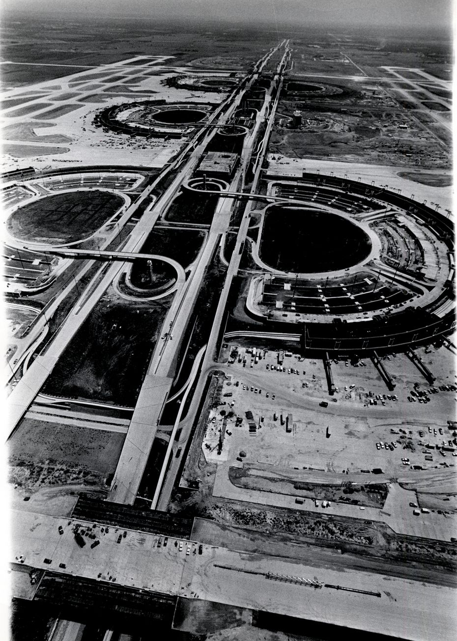 September 10, 1973 - Construction continues on the Dallas Fort Worth Regional Airport.