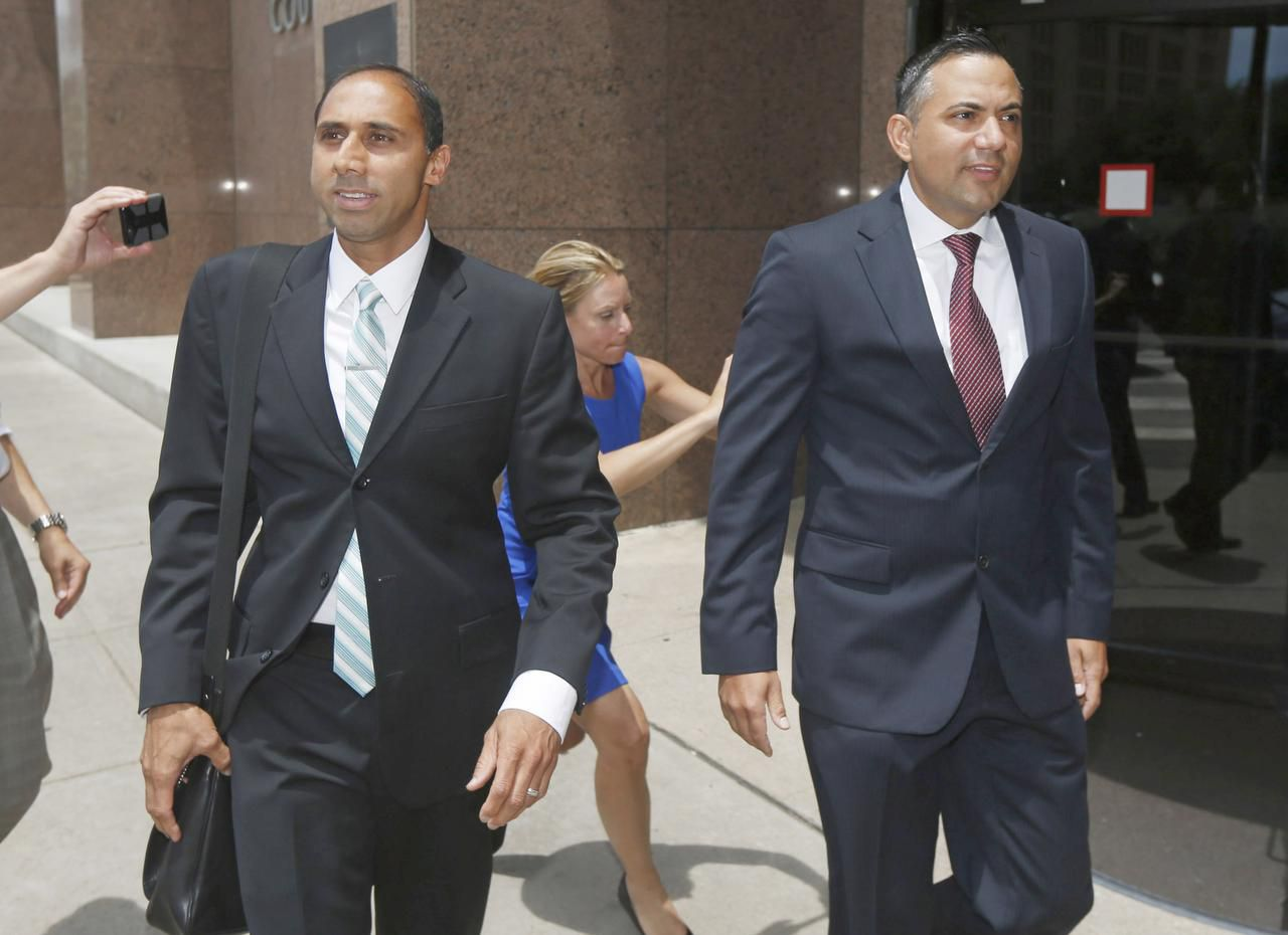 Christian Lloyd Campbell (right), accompanied by his attorney, Shamoil Shipchandler, pleaded guilty in federal court in Dallas on Wednesday to a single count in the John Wiley Price corruption case.