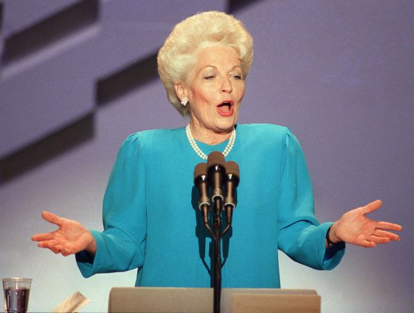 Ann Richards delivered the memorable keynote address at the Democratic National Convention in 1988 in Atlanta.