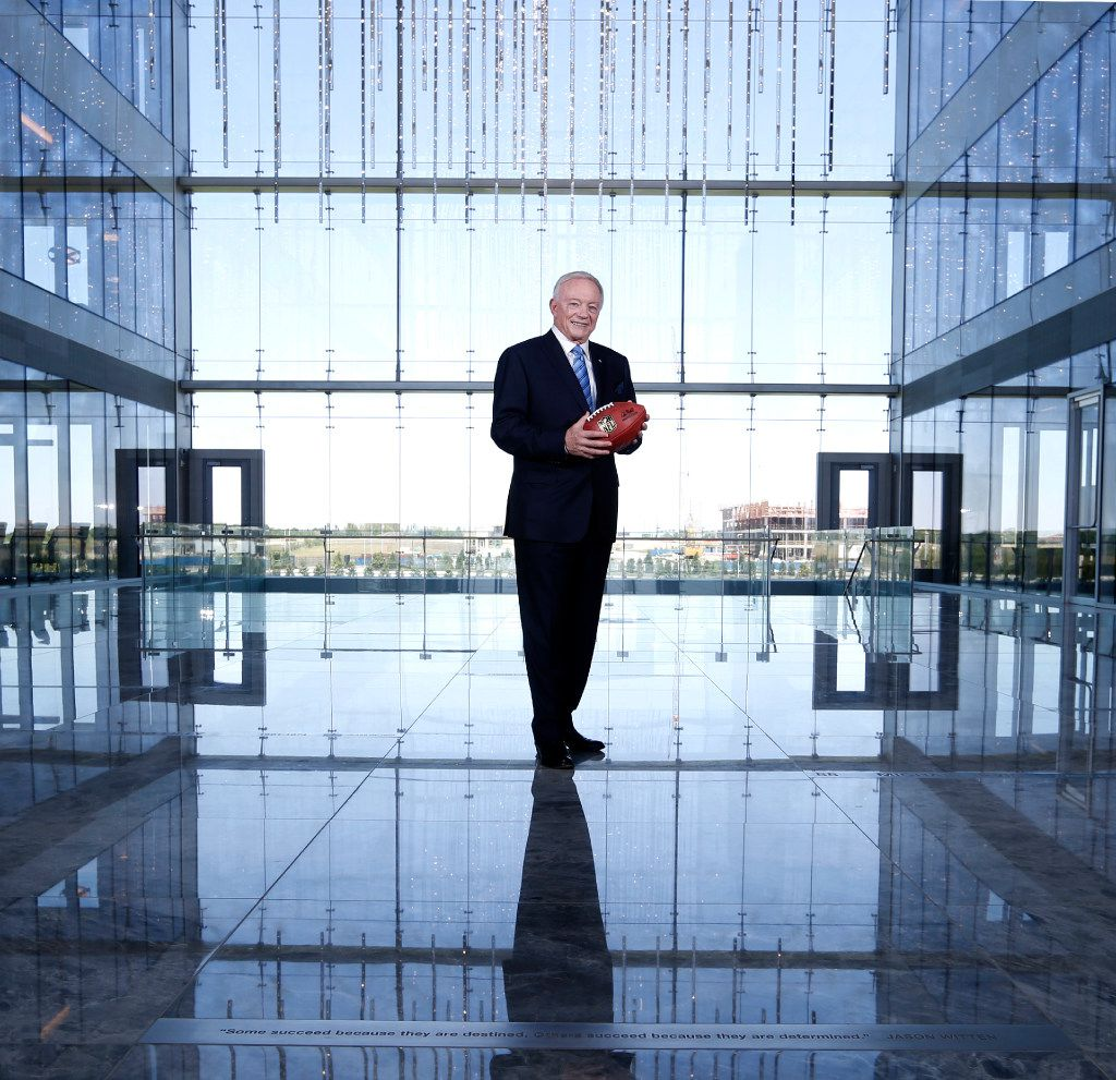 Dallas Cowboys owner and general manager Jerry Jones poses for a portrait at The Star in Frisco on Sunday, May 7, 2017.