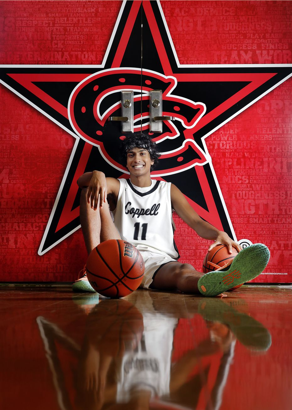 Coppell High School senior basketball player Ryan Agarwal is is one of the best class of 2022 basketball players in the country. He is photographed at Coppell HS, Wednesday, July 14, 2021.