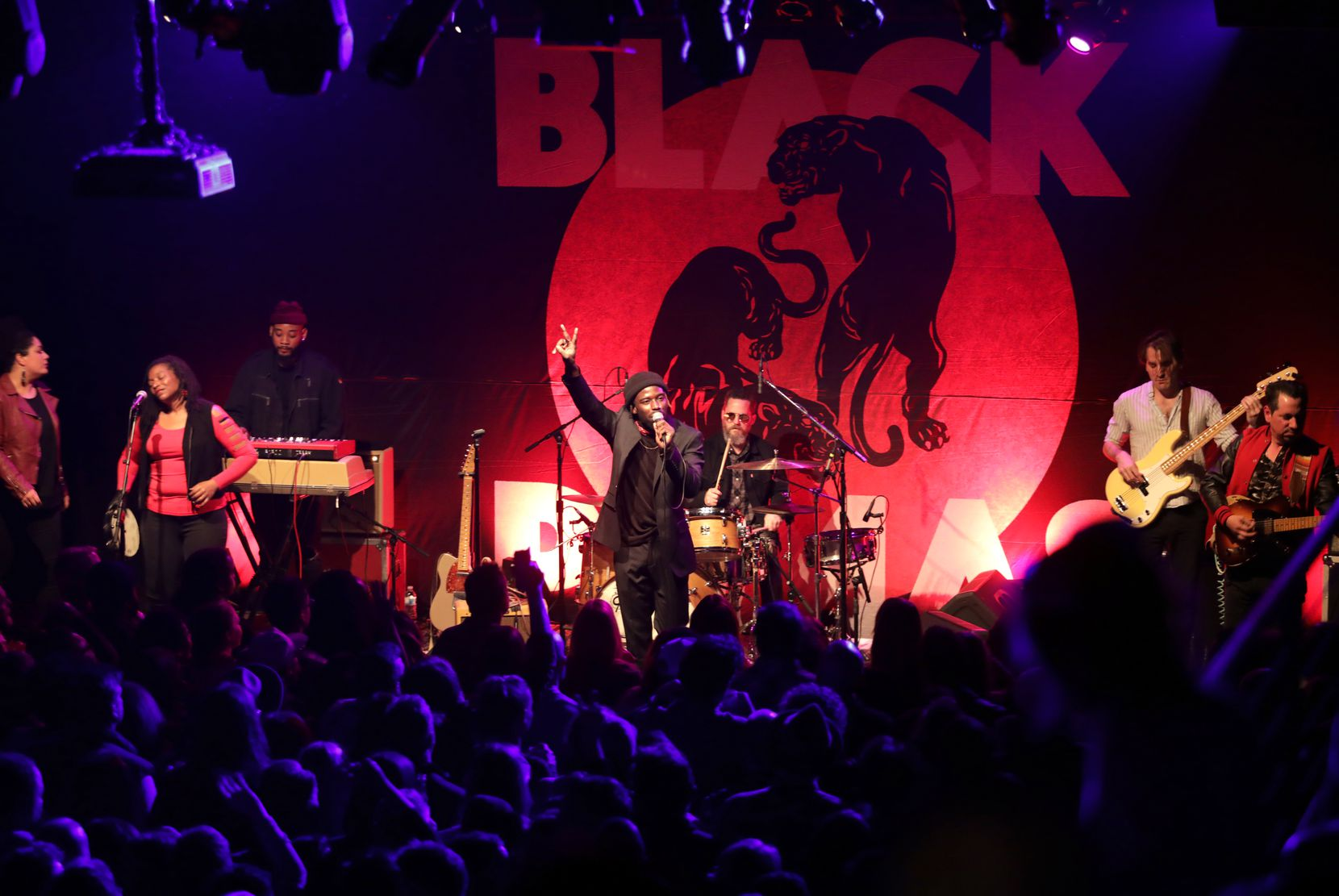 The Black Pumas perform at the Kessler Theater on Jan. 11, 2020.