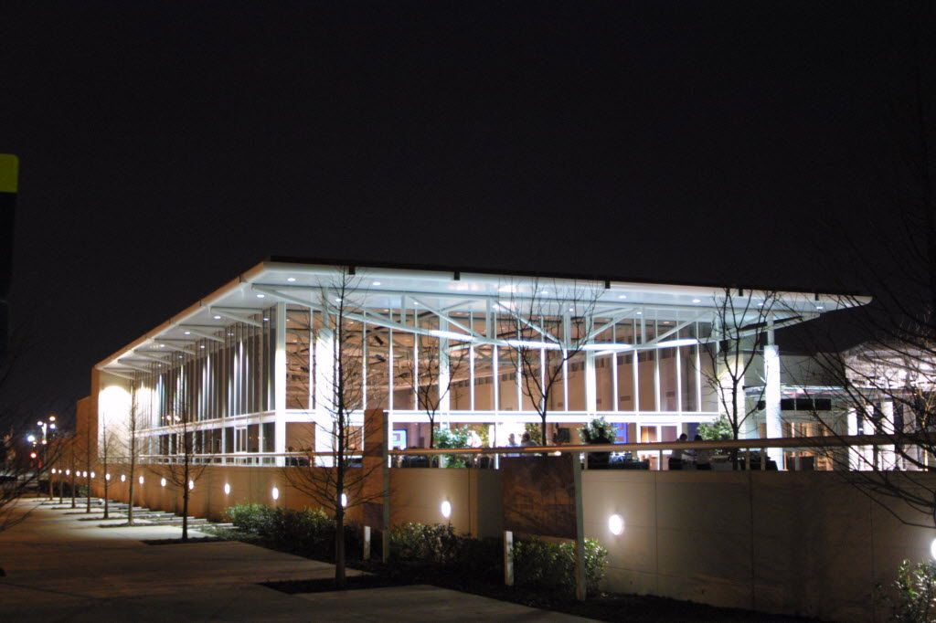 The Granville Arts Center added the Atrium in 2003, but a planned sculpture was not included as bond money fell short.