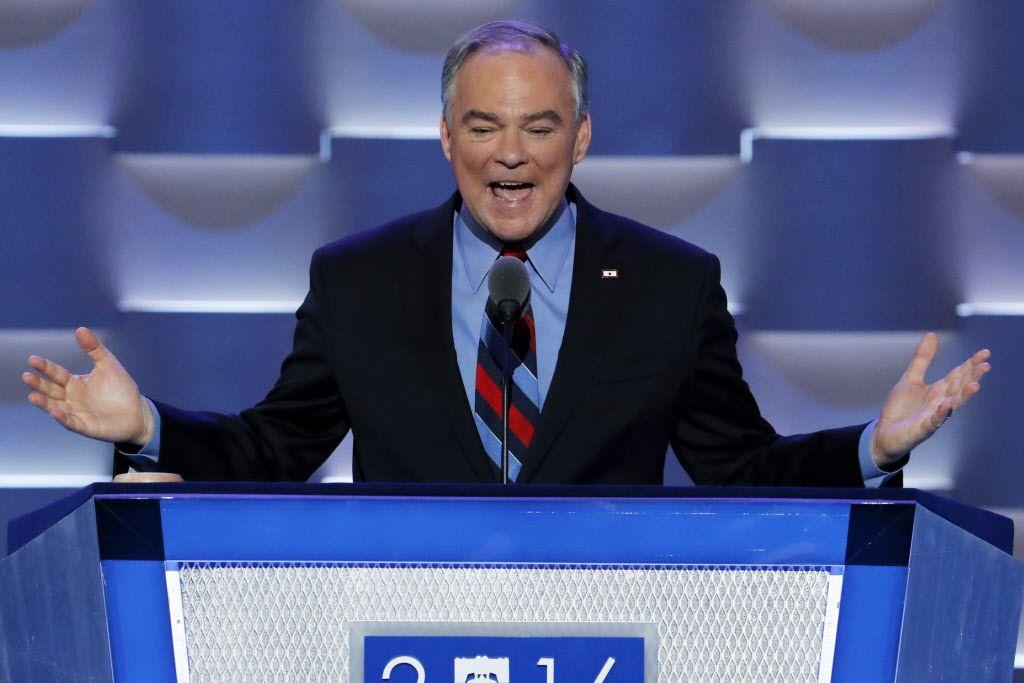El candidato a la vicepresidencia Tim Kaine habla en la Convención Demócrata el miércoles 27 de julio del 2016 en Filadelfia./AP