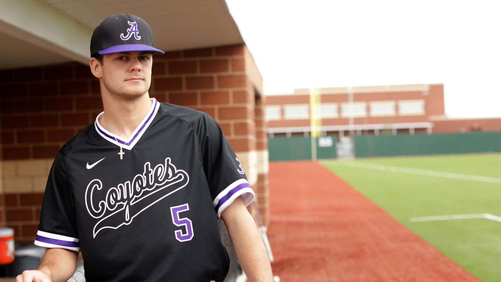 Rawley Hector poses for a photograph at Anna High School in Anna, TX, on May 4, 2021.