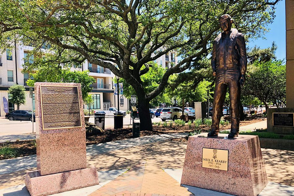 On Saturday, community leaders in Arlington dedicated a new World War II monument that features a statue of Col. Neel Kearby.