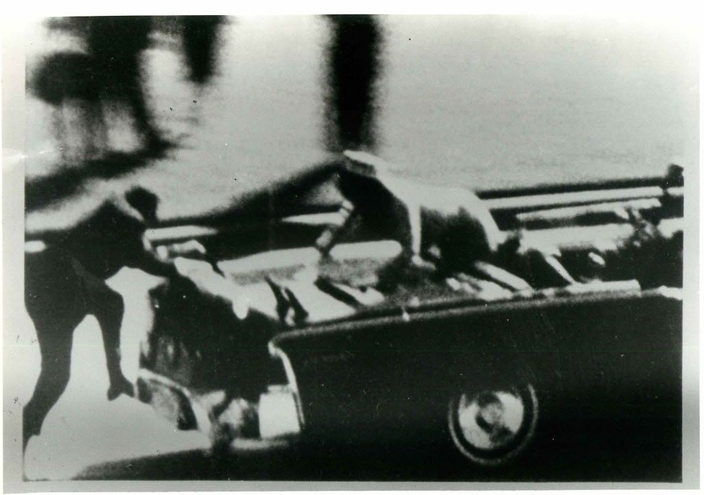 This is a frame from the film of the assassination of John F. Kennedy shot by Abraham Zapruder on Nov. 22, 1963, in Dallas, that was released by LIFE Magazine.