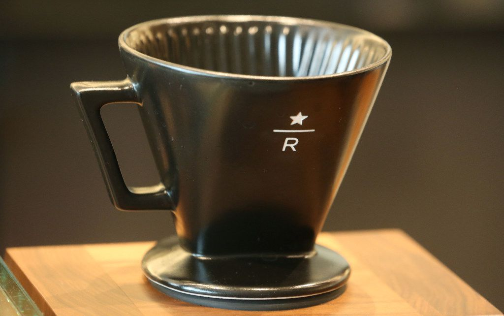 The Starbucks Reserve bar at the McKinney & Olive high-rise in Dallas