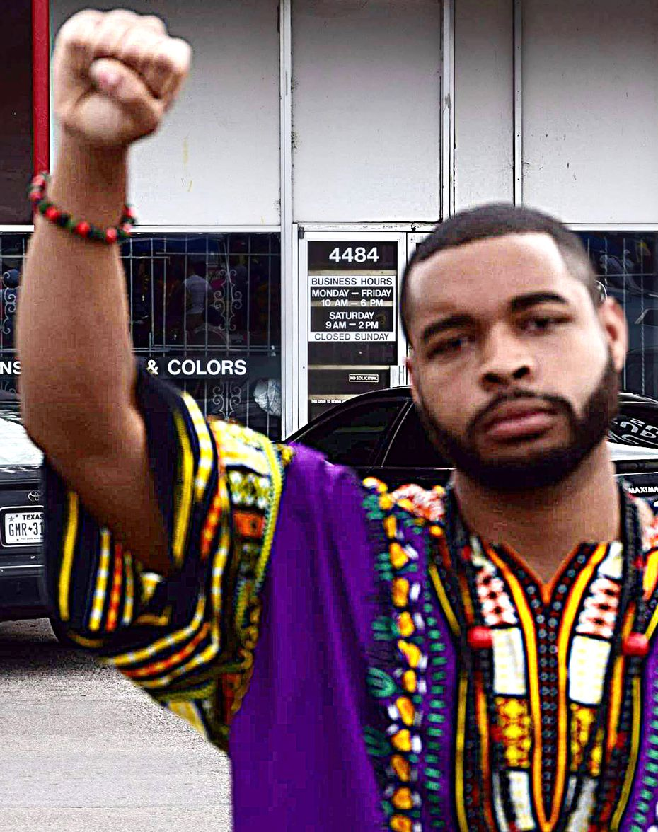 An undated photo of Micah X. Johnson, taken in Dallas, that was posted to his Facebook page.