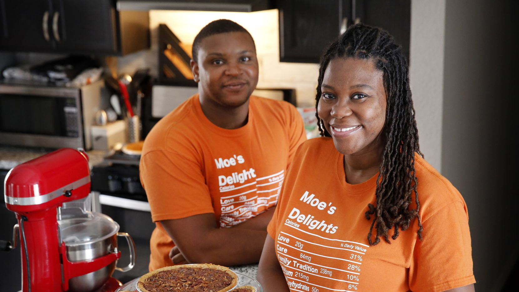 Monisha Clifton (pictured with her husband, Nicholas) started her home-based business, Moe's Delights, after baking pies for friends and family.