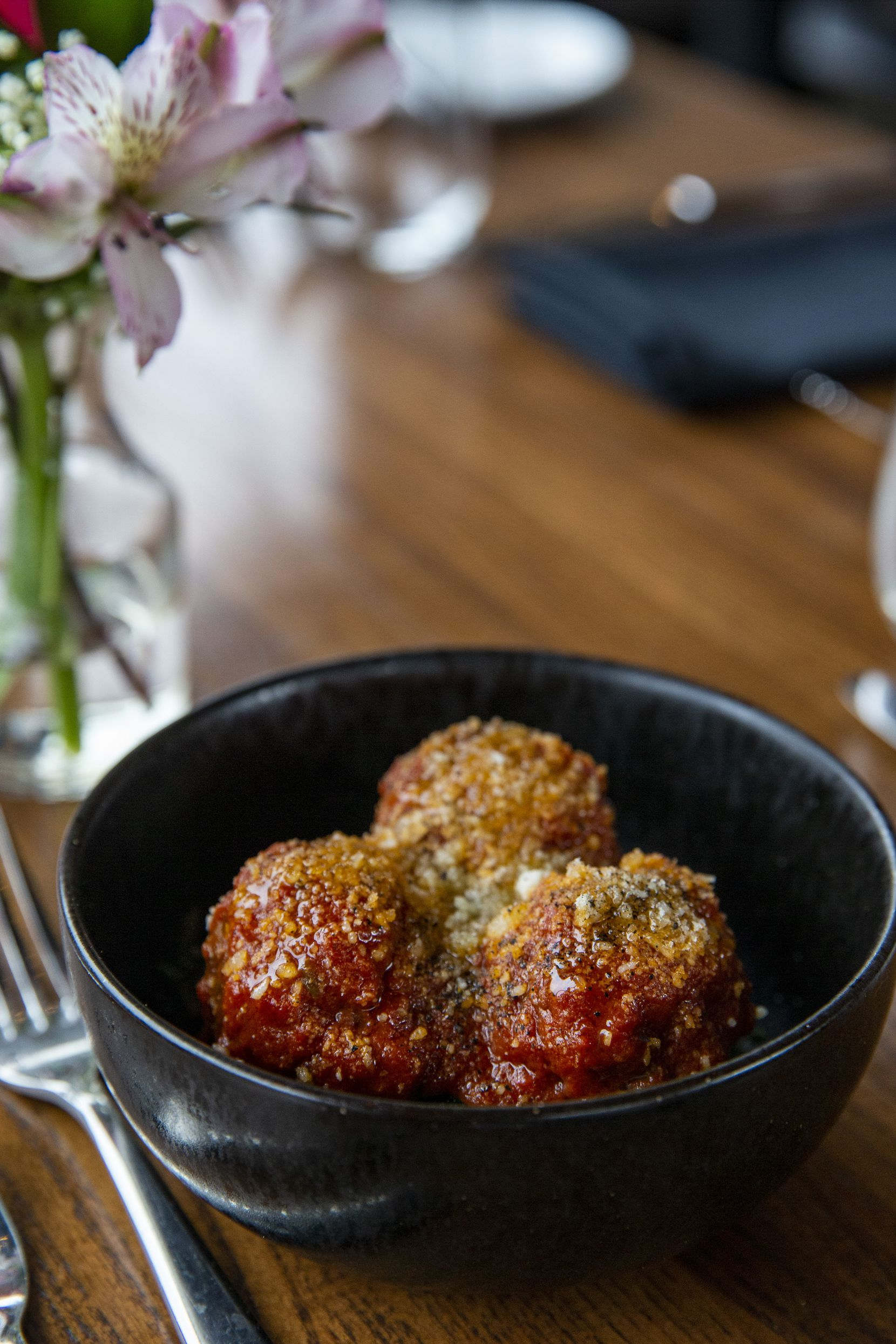 The lamb meatballs at Mille Lire restaurant in Dallas