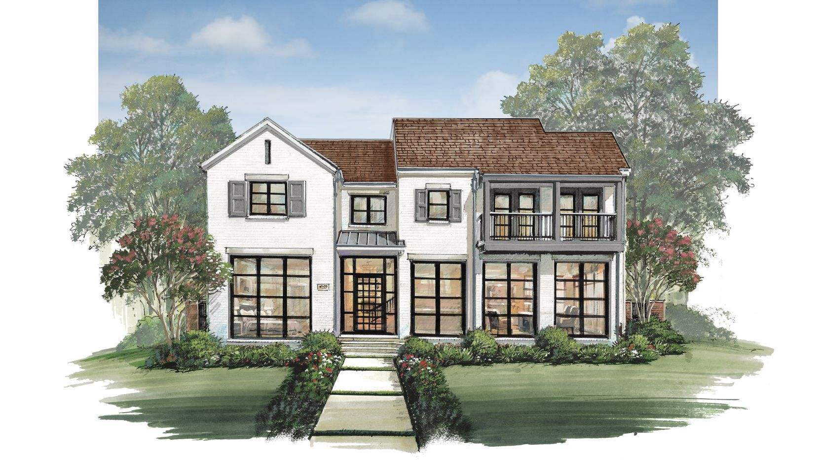 This is an artist's rendering of Alford Homes' modern design under construction at 3700 Bryn Mawr Drive in University Park. It is priced at $3,925,000.