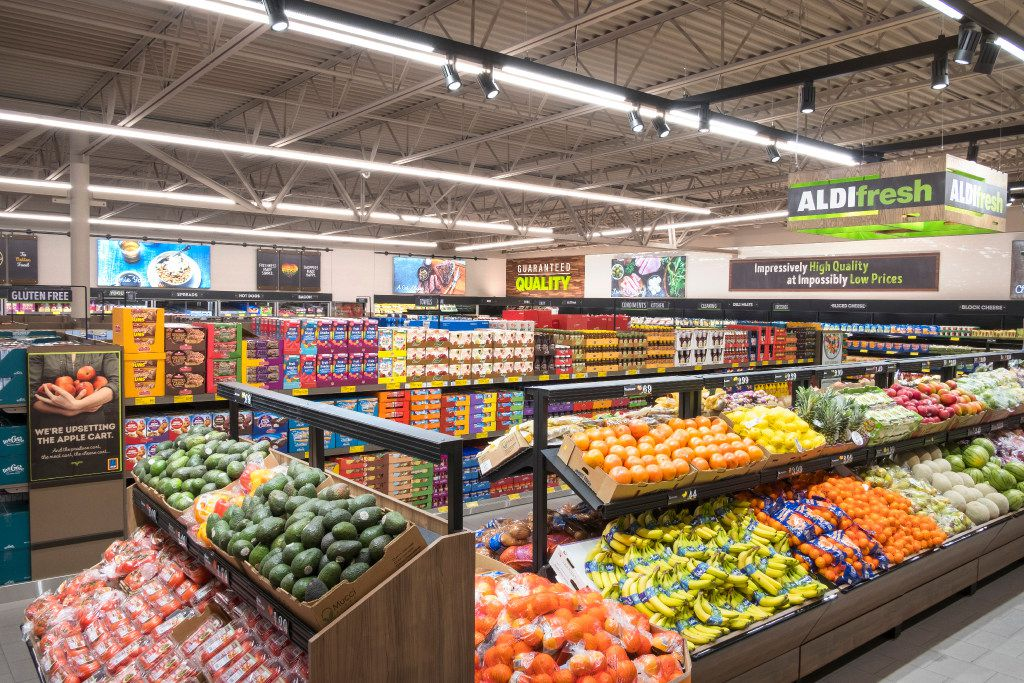 Aldi's larger produce section. The company said in February 2017 that it  plans to spend $1.6 billion to expand and remodel 1,300 stores by 2020.