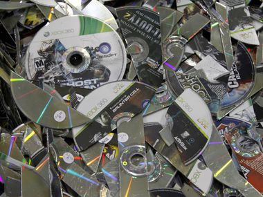 Game discs brought to GameStop's refurbishment center to be shredded and recycled because of damage. The retailer has seen wholesale change in its executive ranks this year as new board leadership aims to transform the company.