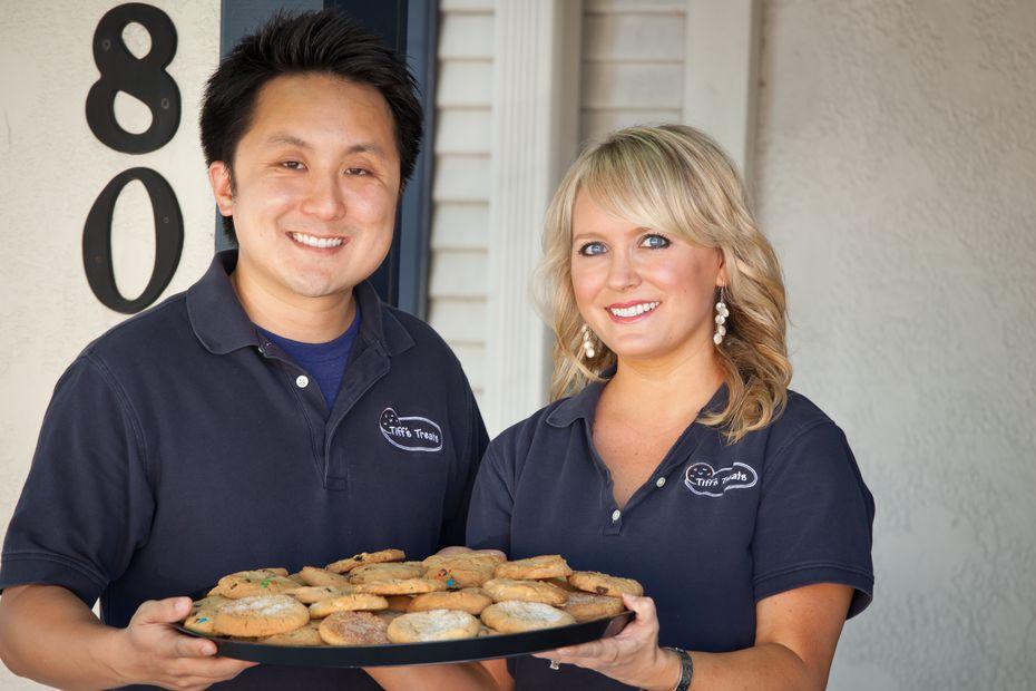 Tiff's Treats founders Leon Chen (left) and Tiffany Taylor-Chen.