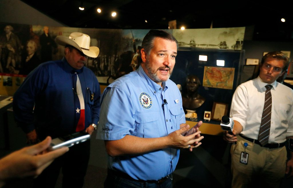 U.S. Sen. Ted Cruz, R-Texas, talked with the media after meeting with local leaders and law enforcement Sept. 4 at the John Ben Shepperd Public Leadership Institute in Odessa.