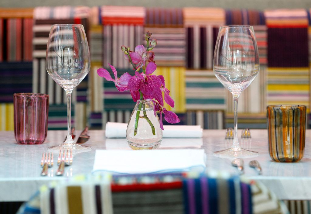 A table setting at Mirador (Nathan Hunsinger/The Dallas Morning News)