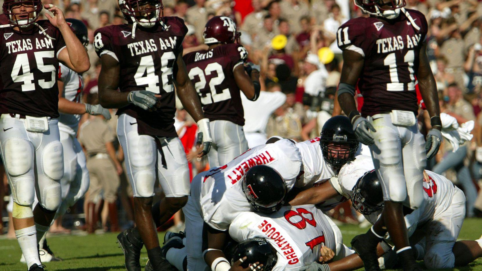 Texas A M S Memorable Big 12 Football Games Vs Texas Tech 2002