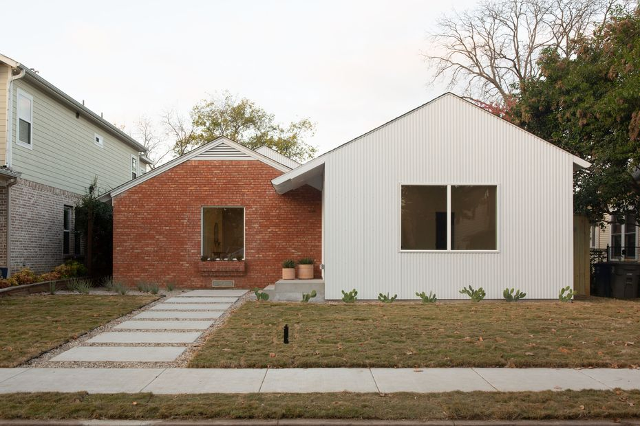 The Thurmonds converted this former duplex at 5917 Vickery Blvd. into a single-family home.