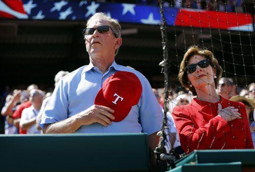 George W. Bush y Laura Bush.