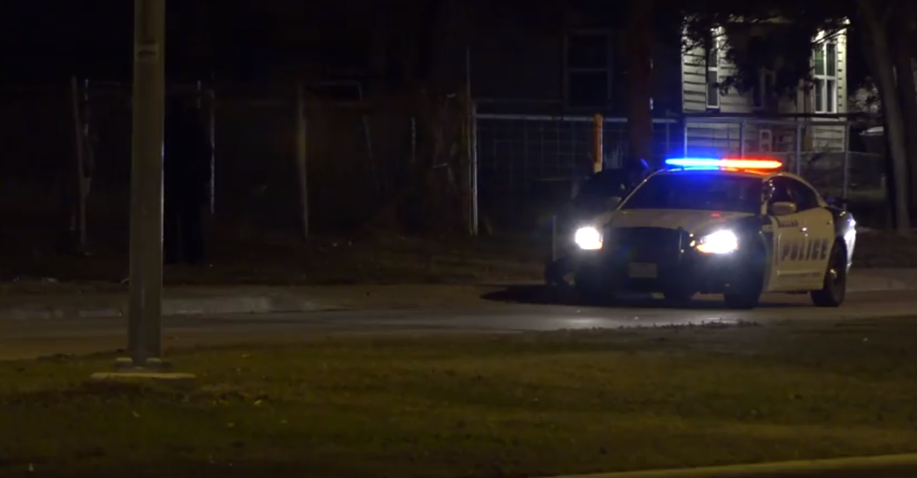 A Dallas police car at a kidnapping call Sunday, Nov. 24, 2019, in the 8800 block of Bonnie View Drive.