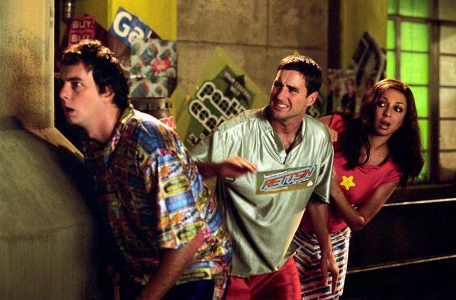 "Dax Shepard, Luke Wilson and Maya Rudolph in ""Idiocracy."""